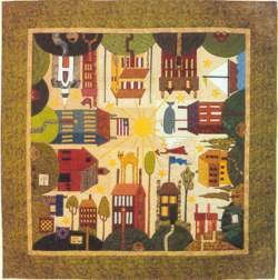 Quakertown All Around the Town House BOM Applique 12 Pattern Set