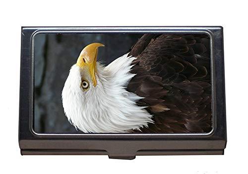 Professional Business Card Holder,Raptor Eagle Fish Eagle Pigargue Nature Bird,Stainless Steel Card Holder ()