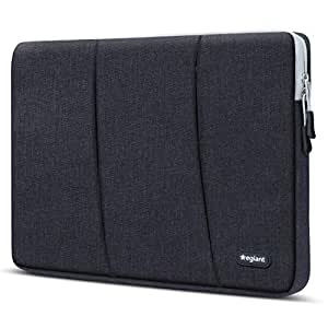 Egiant 360° Protective 15.6 Inch Laptop Sleeve Case Compatible Aspire 15.6|Chromebook 15|Inspiron 15.6|Pavilion 15.6|Asus F555LA/X551,Water Repellent Computer Notebook Carrying Bag 2 Pockets,Black
