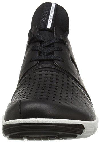 Ecco Damen Intrinsic 2 Hohe Sneaker Schwarz (Black/Black)