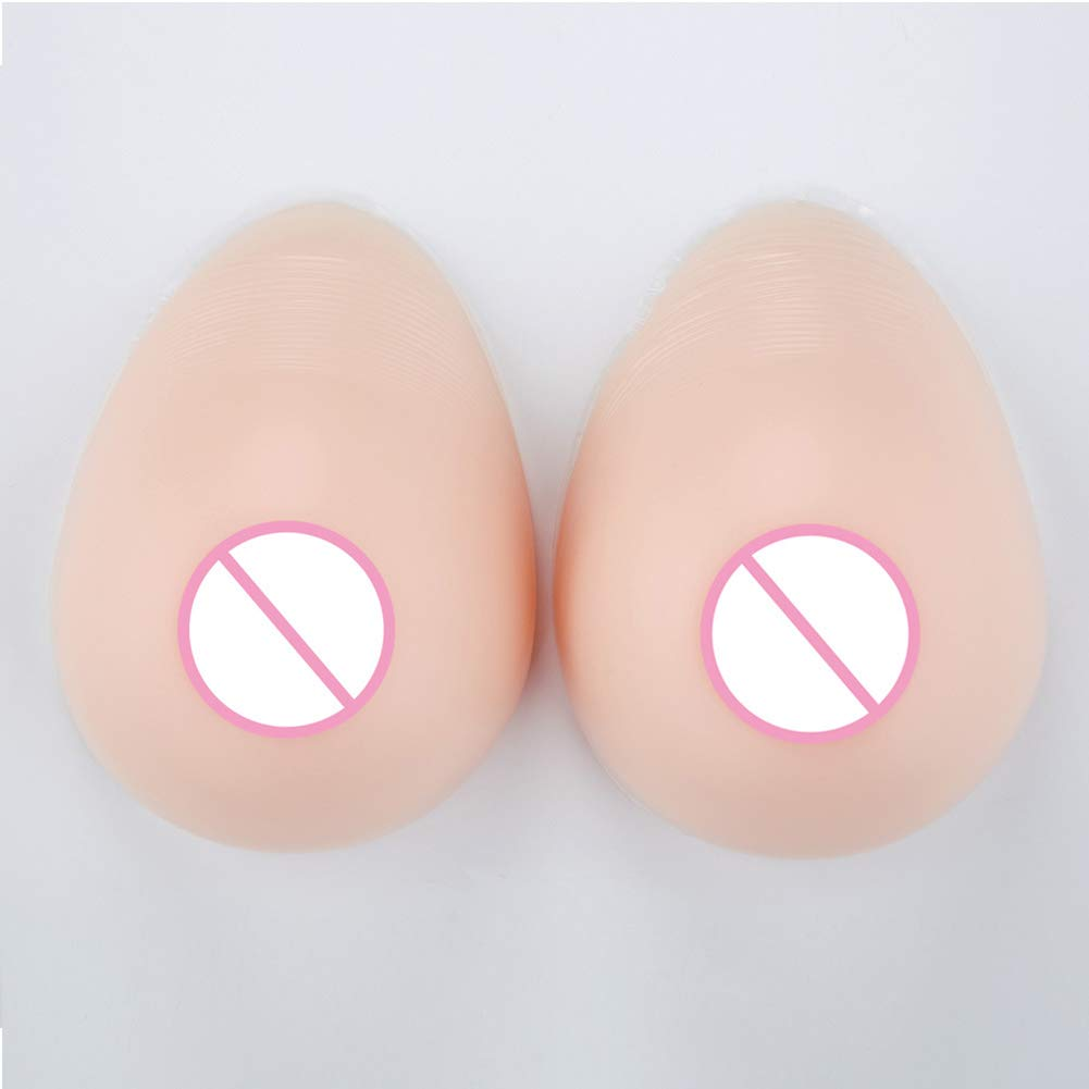 Love of Life Silicone Breast Forms False Boobs Water Drop Type Realistic Feel for Transgender Mastectomy Breast Prosthesis Cosplay, 3,CupD/1000g/Pair.6.74.72.6inch