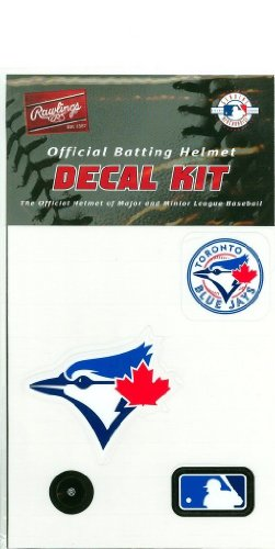 (Toronto Blue Jays MLB Batting Helmet Decal Kit (Includes Official Team Logos Stickers, MLB Logo & Numbers for Youth Little League Players to Adult Recreation Players)