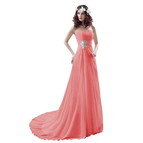 Vimans -  Vestito  - linea ad a - Donna rosso 38