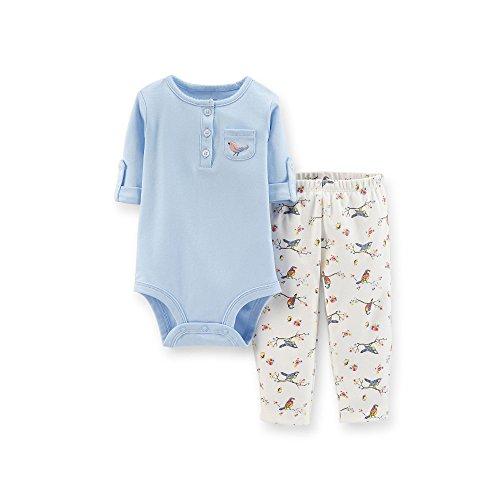 Carters Baby Girls 2 Piece Bodysuit