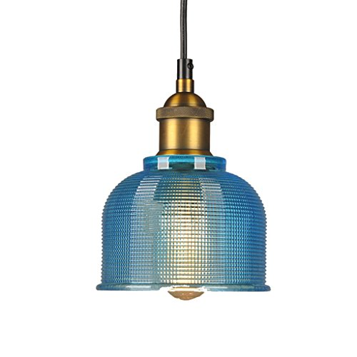 Small Blue Glass Pendant Lights in US - 6
