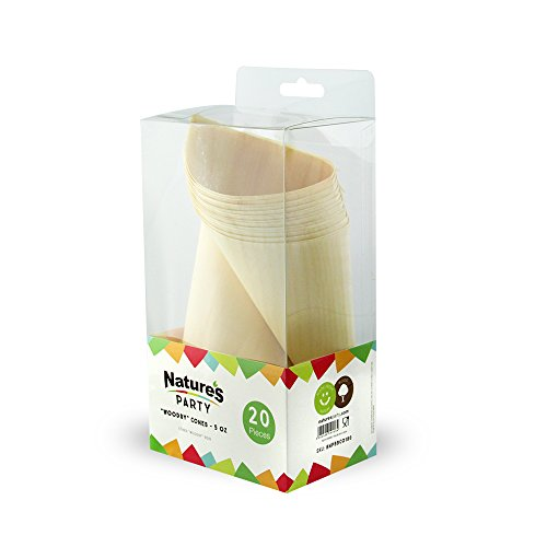 Nature's Party Mini Wooden Cones, 7'' Length x 5.1'' Width (pack of 20) by Nature's Party (Image #1)