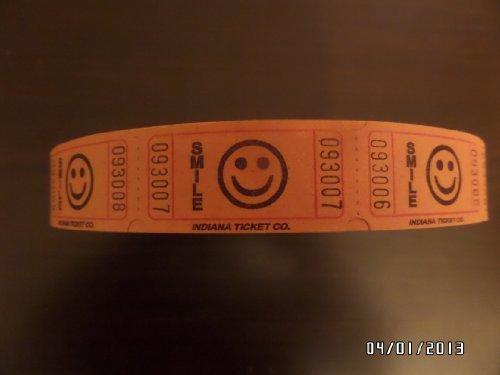 Orange 2000 Smile by Indiana Ticket Company