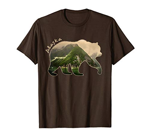 Alaska Bear T Shirt Grizzly Bear Shirt short sleeve Gift