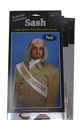 Halloween Scariest Costume Foil Sash (Pack of 6)