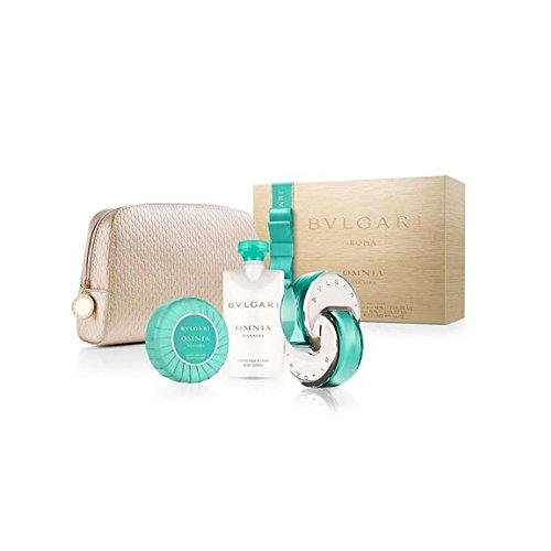 Bvlgari Omnia Paraiba Coffret: Eau De Toilette Spray 65ml/2.2oz + Body Lotion 75ml/2.5oz + Soap 75g/2.6oz + Pouch 3pcs+1pouch