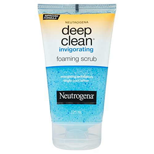 Clean Foaming Gel Cleanser (Neutrogena Deep Clean Invigorating Foaming Face Scrub, 4.2 Fl. Oz.)