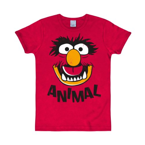 Logoshirt T-Shirt MUPPETS - ANIMAL rouge L