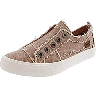 Blowfish Malibu Women's Play Sneaker, Dirty Pink Hipster Smoked Twill, 8