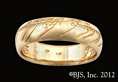 Amazoncom Lord of the Rings The One Ring of Power in 14k Rose