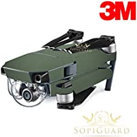 SopiGuard 3M Matte Green Military Army Precision Edge-to-Edge Coverage Vinyl Skin Controller Battery Wrap for DJI Mavic Pro