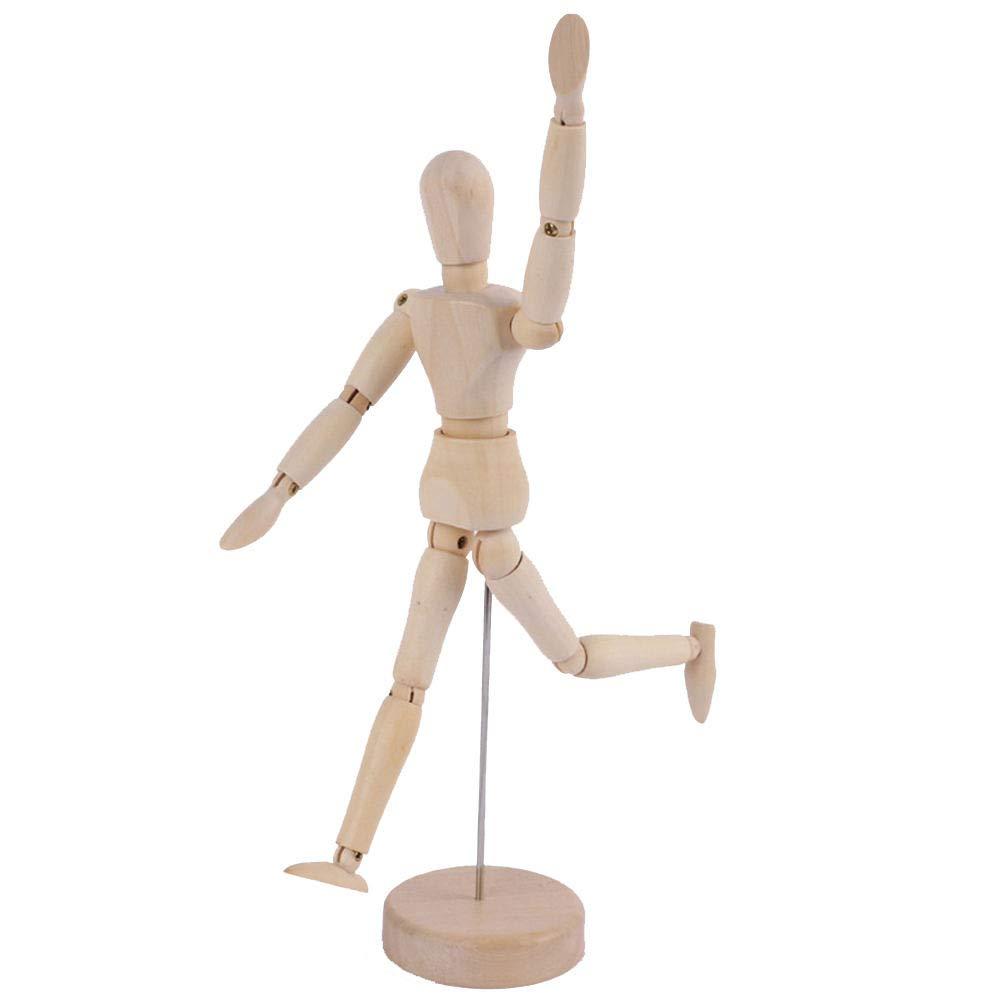 Merssavo Wooden Manikin Jointed Doll Model Art Mannequin Articulated Artist Manikin Figure Solid Wood,3#