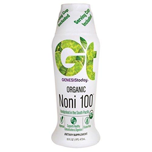 Organic Noni 100% Island (Genesis Today, Organic Noni 100, 16 Ounce)