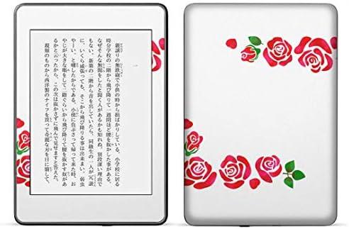 igsticker kindle paperwhite 第4世代 専用スキンシール キンドル ペーパーホワイト タブレット 電子書籍 裏表2枚セット カバー 保護 フィルム ステッカー 016254 バラ 花