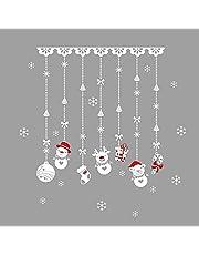 DeoMeat Muñeco de Nieve de la Ventana Pegatinas Cortina del Grano Etiqueta de la Pared de la Etiqueta DIY Duradero Holiday Decor