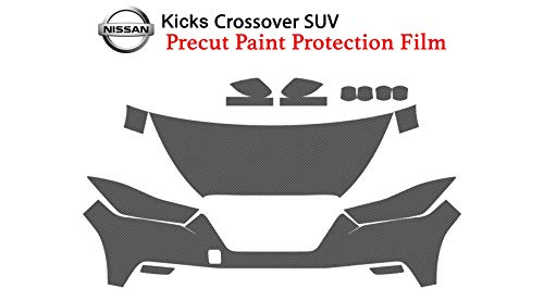 (The Online Liquidator Precut Clear Bra Paint Protection Film Kit fits Nissan Kicks Crossover SUV 2018-2019 - Full Front Vinyl Wrap Surface Safeguard Armor Cover)
