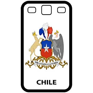 Chile - Country Coat Of Arms Flag Emblem Black Samsung Galaxy S3 i9300 Cell Phone Case - Cover