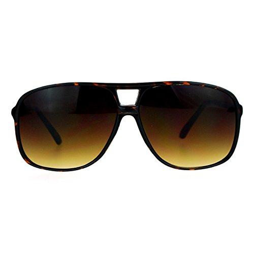 Tortoise Plastic Fashion - SA106 Oversize Large Thin Plastic Racer Mens Sport Sunglasses Tortoise