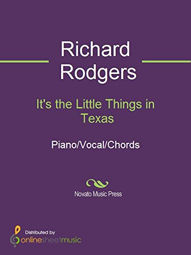 Its The Little Things In Texas Kindle Edition By Richard Rodgers