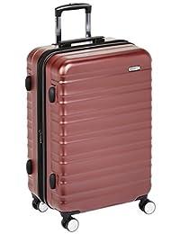 AmazonBasics - Equipaje con candado TSA integrado, color rojo