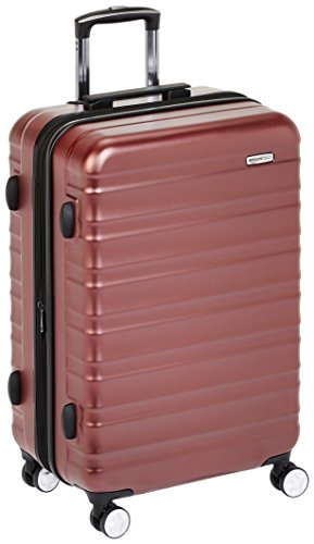 AmazonBasics Premium Hardside Spinner Luggage with Built-In TSA Lock - 26-Inch, Red