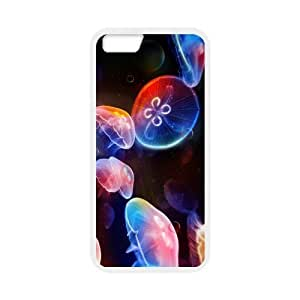 MeowStore Stylish Pretty Vivid Jellyfish Swimming Universe Space Bubble Stars Iphone 6 (4.7 inch) Case Cover Phone Case Shells