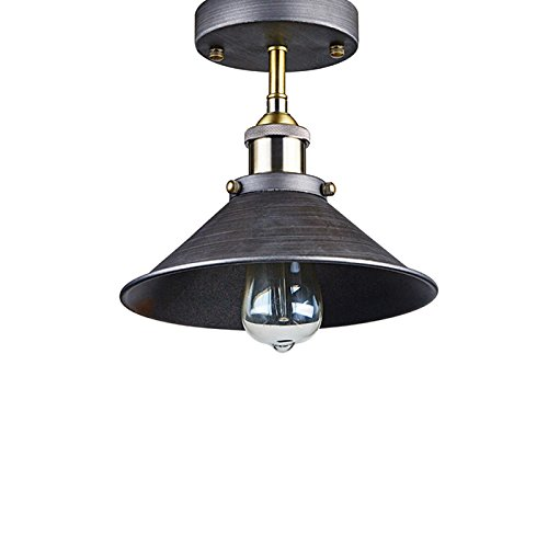 les yobo lighting industrial edison filament vintage semi flush