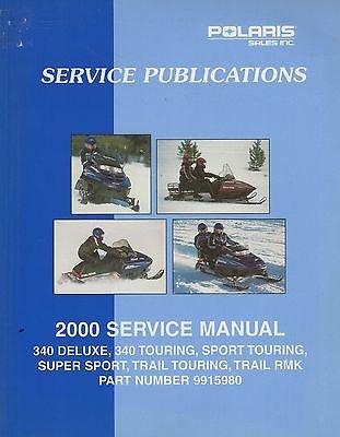 2000 Polaris Snowmobile - 2000 POLARIS SNOWMOBILE 340 TOURING, TRAIL RMK SERVICE MANUAL P/N 9915980 (881)