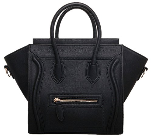 JJ Fashion 2016 Classic Smile Style Women Leather Handbags