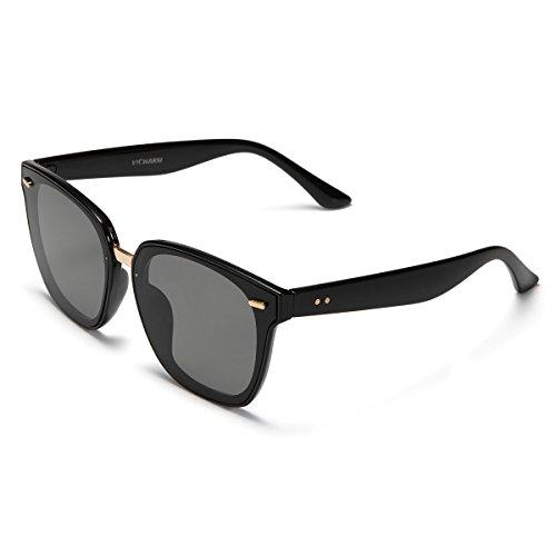 sol espejo de vintage para con colores Gafas Hombre unisex Negro retro y Mujer Sg5pfwpxnq