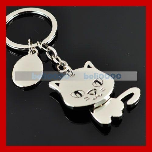 Cat 3D Moving Keychain Holder