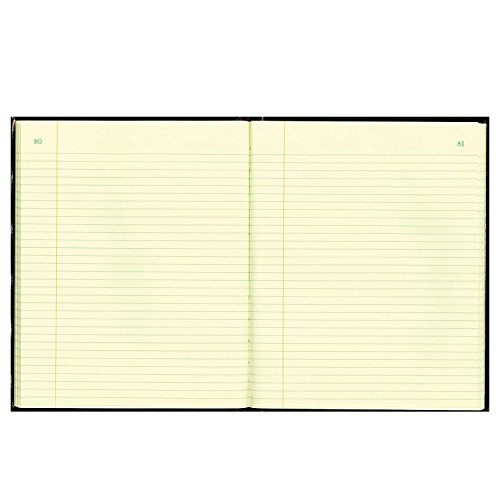 (National 56211 Texthide Record Book Black/Burgundy 150 Green Pages 10 3/8 x 8 3/8)