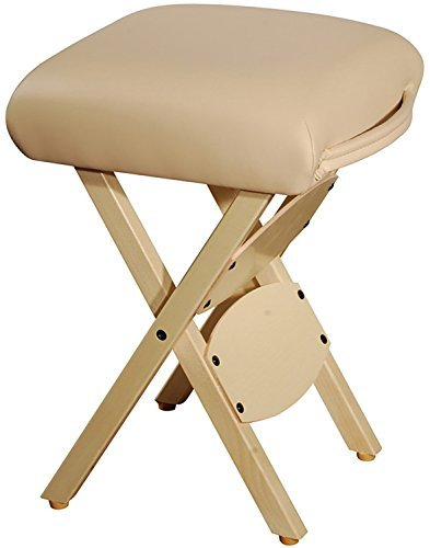 Therapist's Choice Wooden Folding Massage Stool (Creme (Beige)) by