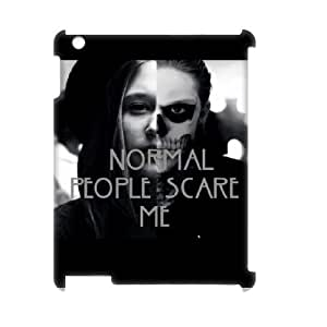 Normal people scare me Design Unique Customized 3D Hard Case Cover for iPad 2,3,4, Normal people scare me iPad 2,3,4 3D Cover Case