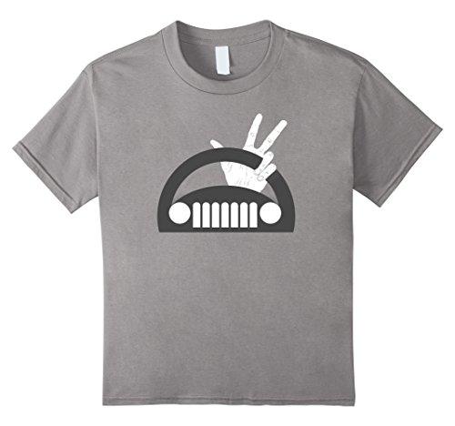 Kids Funny The Jeep Wave T-Shirt 10 Slate