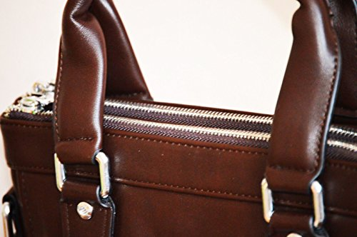 Lucky Kangroo , Borsa Messenger  marrone Brown 29 cm (Length) x 31 cm (Height) x 6 cm (Wide)