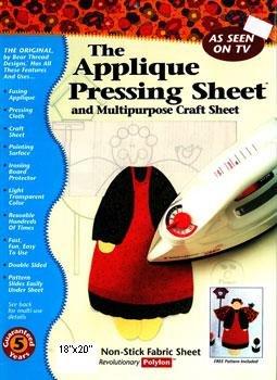 Bear Thread 18x20 Applique Pressing Sheet, 18 x 20, White