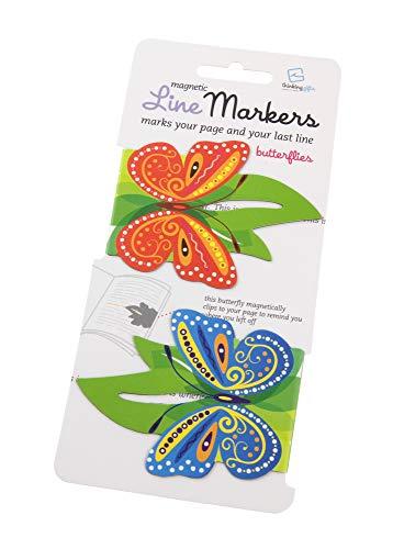 Line Markers Butterflies – Magnetische Lesezeichen. 2er Set Schmetterlinge