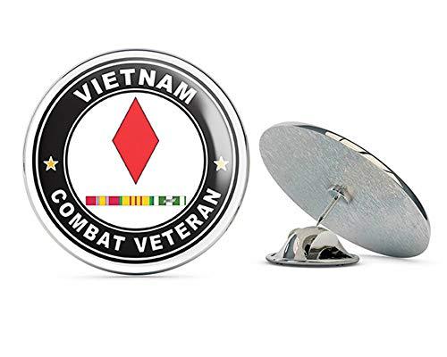 - US Army 5th Infantry Division Vietnam Combat Veteran with Ribbons Metal 0.75