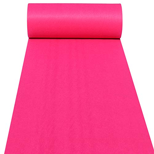 Aisle Runners Wedding Accessories Pink Aisle Runner Carpet Rugs for Step and Repeat Display, Ceremony Parties and Events Indoor or Outdoor Decoration 24 Inch Wide x 15 feet Long -