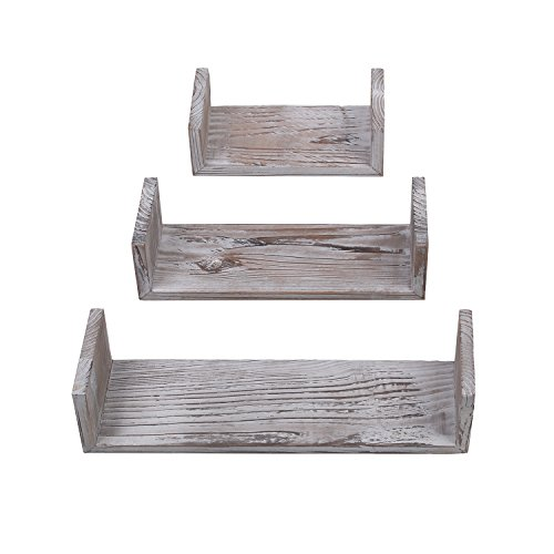 Yankario Rustic Floating Shelves Wall Mounted Set ()