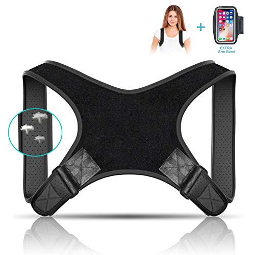 Jasain Posture Corrector for Women & Men-Best Fully Adjustable Back Brace-Comfortable Posture Support for Back Neck and Shoulder Pain Relief (FDA Approved)