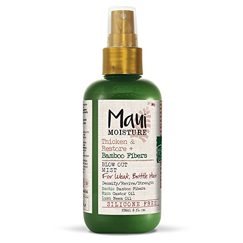 Maui Moisture Thicken & Restore + Bamboo Fiber Mist, 8 Ounce, Helps Soften Treated, Natural, or Transitioning Hair, Helps Renew Brittle, Dry Hair, Silicone Free