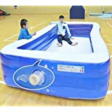 Summer Above Ground Swimming Pool Outdoor Inflatable Kids and Adult Family Thicken Pool Swim Pool for Backyard Water Park (3.8M-3Layers)