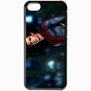 Personalized iPhone 5C Cell phone Case/Cover Skin Andrew garfield in amazing spider man movies Black