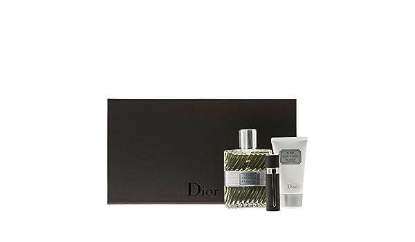 EAU SAUVAGE edt 100 ml + Edt 3 ml + Gel 50 ml de Dior, Hombre – Estuche: Amazon.es: Belleza
